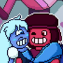Ruby and Sapphire by gatekid3