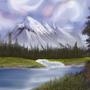 Mountain - Landscape by GrimKage7