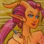 Demon Girl Diptych - Watercolor