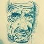 Old man's face by yodaddyo