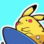 Surfing Pikachu by IkaroKruz