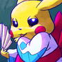 Pikachu in Frostlass Kimono by ArtistGamerGal