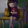 girl with teddy by upendra