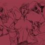 Ken, Chun-Li and Ryu by d-z