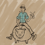 guy on pig by SPace