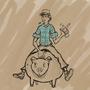guy on pig