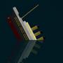 Titanic Flat Art by kittenbombs1