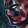 Deadpool acrylic sketch by bella-art