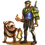 Post-Apocalyptic Character with Mutt