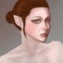 elf portrait wip by littleyuri