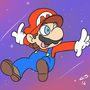 Marios galaxy by MegatonSlater