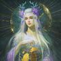 Moon Goddess Elune by Ishnuala