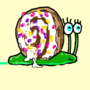 Cinnamon Bun Snail (with sprinkles)