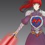 Female Knight by AhmadFirdaus