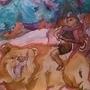 summer native american woman riding bear by DrawingMaster2325