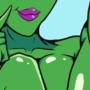 sexy alien girl by HoundWolf