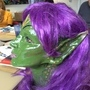 Green Space Elf Head with hair