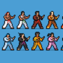 karate characters by UltimoGames