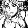 Demon girl lineart by FLASHYANIMATION