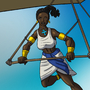 Takhaet on a Glider by BrandonP