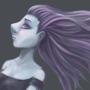 Purple Girl by MartsArt