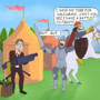 Weapons Salesman by Jom
