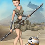 Sexy Rey and BB8 by allsketchedout33