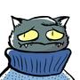 Sweater Cat by Kaishu