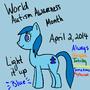 Autism Awareness Pony by NostalgicNerd94