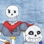Undertale Fanart: Sans and Papyrus by Amyko-san