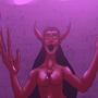 devil girl cartoon by soulkiller69