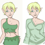 Elven Girl Drawing by DapperSnake