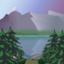 Mountains and a Lake by BlueOceans