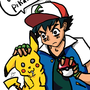 Ash and Pikachu by BrandonIsNear