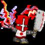 worn red castle crasher by ROFLCHOPPA