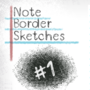 Note Border Sketches #001 by TheNamGam