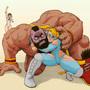 Street Fighter: R.Mika vs Zangief with Nadeshiko by Quasimodoxxx