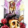 Sugar Skull Faerie by covellite