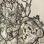 Junkrat and Roadhog drawing by sherman997