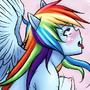 COMM: Riding to Rainbow Dash by IlustretsSpoks
