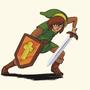Zelda 2 Style Link by Shamoozal