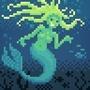 pixel mermaid by aips