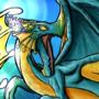 Water Dragon Concept Art Illustration by DragonloreStudios