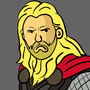 Cartoon Thor by VaskoTheGreat
