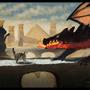 Black Dragon of Death VS Litte Home Kitten by FelipeOliveira