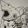 Legendary Cyborg Soldier Shark by gmorelli1139