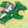 Mittens The Dragonslayer by ArtfulBrittani