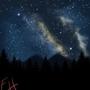 Digital Painting 003 - Starry Night Sky by MACGYVR
