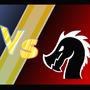 Cat vs. Dragon the epic battle by yulbs
