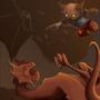 Dragons vs Kitten by GautierMD